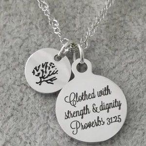 Christian Bible Verse Scripture Necklace